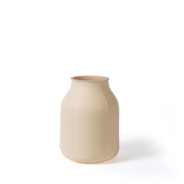 Benjamin Hubert - Large Vase Barrel HUB15 - Matt Cream