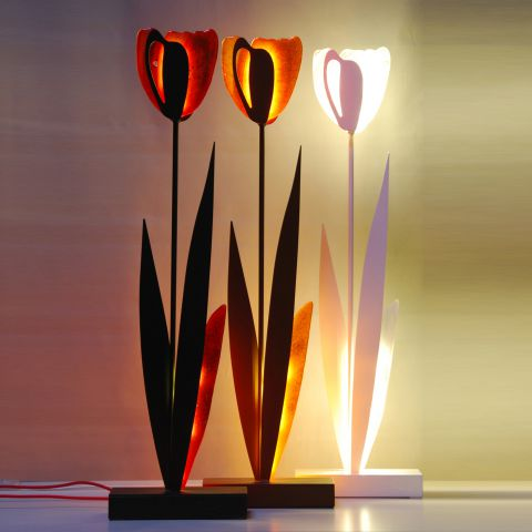 Tulipano   Lamp QU100   Black/red
