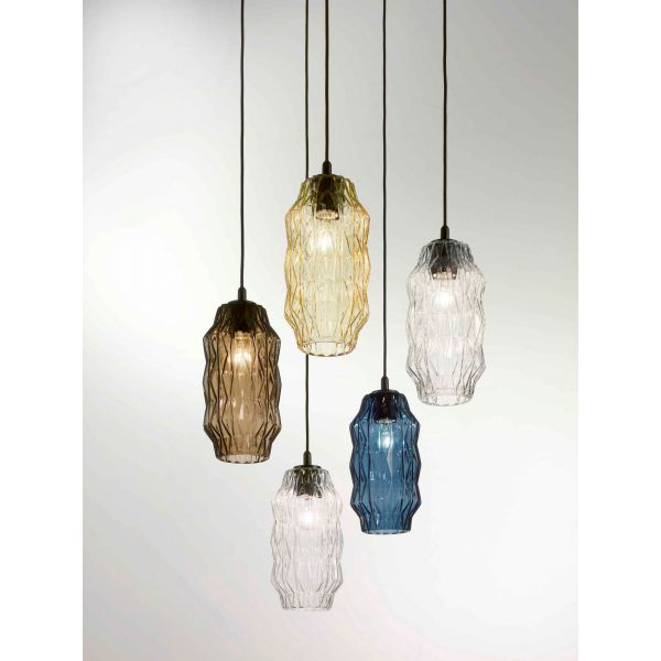 ORIGAMI 2781 - Suspension Lamp in blown Murano Glas, Selene Illuminazione